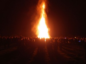Bonfire on Guy Fawkes Night 2010 by S. Marshall