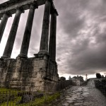 Temple of Saturn and Road to Capitoline Hill
