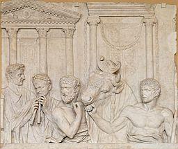 http://commons.wikimedia.org/wiki/File%3ARoman_sacrifice_Louvre_Ma992.jpg