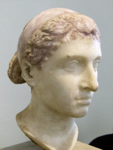 Cleopatra VII marble bust from the Berlin Museum