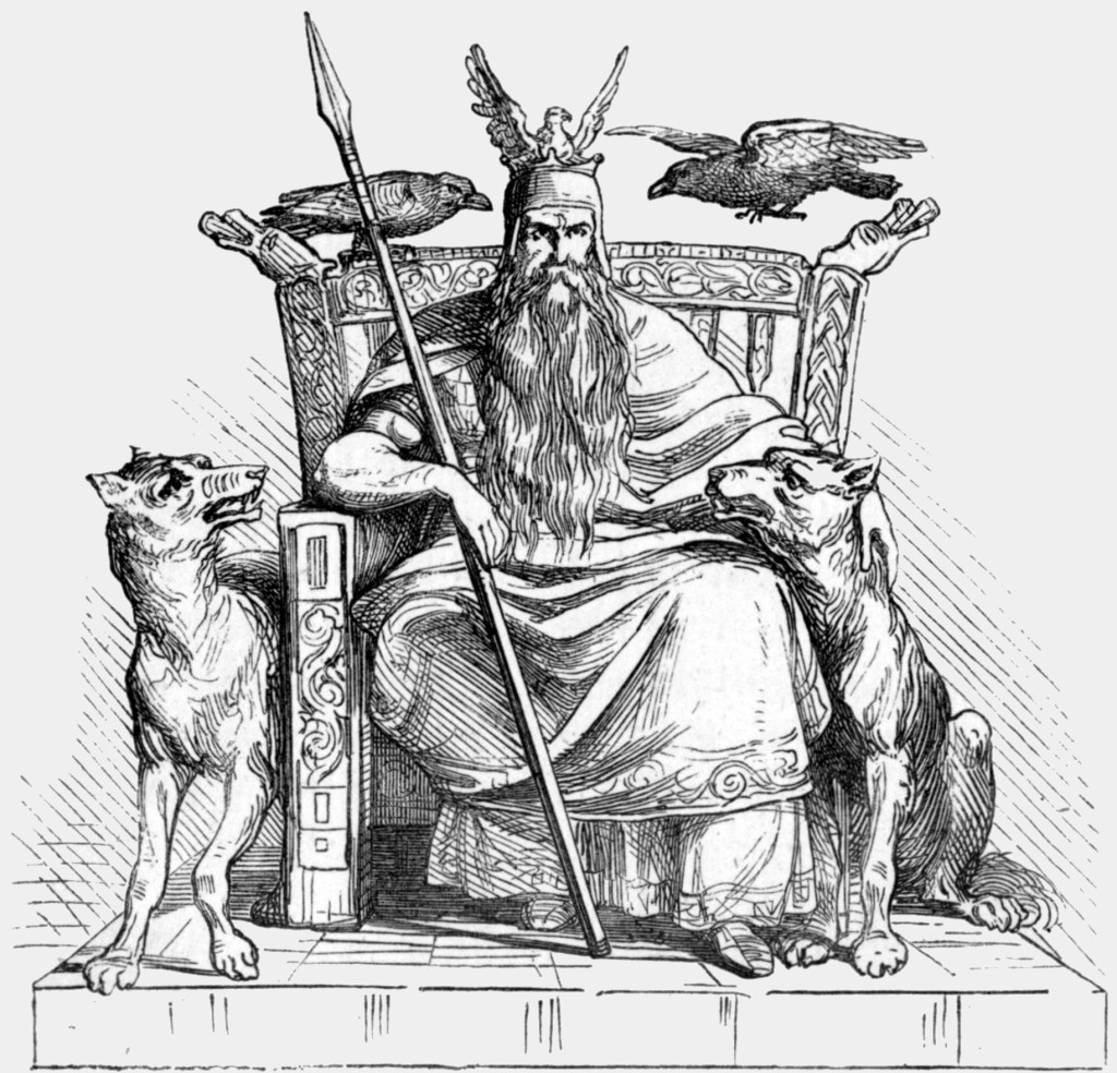Odin from Manual of Mythology courtesy of Wikimedia Commons