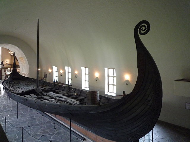 Oseberg Viking Ship courtesy of Wikimedia Commons