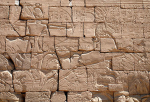 Ramses II at the Battle of Kadesh from the Ramesseum